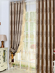 long Curtains For living Room/ Bedroom Blackout Curtains Window Drapery Burgundy Golden Solid