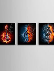 Stretched Canvas Art Pop Art Passion of Music Set of 3