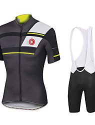 KEIYUEM® Cycling Jersey with Bib Shorts Men's / Unisex Short Sleeve BikeWaterproof / Windproof / Dust Proof / Lightweight Materials / 3D