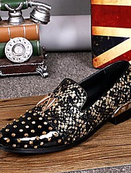 Men's Shoes Amir 2016 Pure Manual Flash Novelty Wedding/Night Party Cowhide Leather Loafers Light Gold/Silver