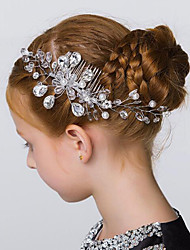 Flower Girl's Crystal / Imitation Pearl Headpiece - Wedding / Special Occasion / Outdoor Hair Combs / Flowers