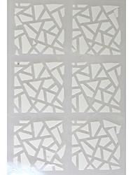 5 sheets - Autocollants 3D pour ongles - Doigt / Orteil - en Abstrait - 13*7.5