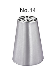 Stainless Steel Piping Nozzle Pastry Tube Fondant Cake Decorating Tools Kitchen AccessoriesJG0017-No.14
