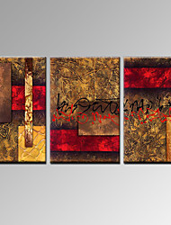 VISUAL STAR®3 Panel Handmade Oil Painting Modern Canvas Wall Art Ready to Hang