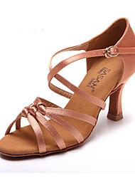 Sapatos de Dança ( Preto / Chocolate ) - Feminino - Não Personalizável - Latina / Salsa