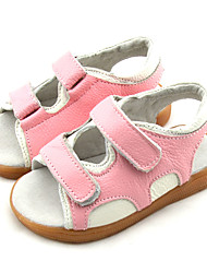 Girls' Shoes Casual Open Toe Leather Sandals Blue / Pink
