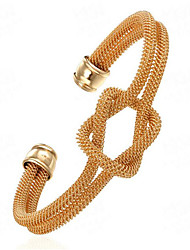 May Polly Copper plated gold dual tube kink Bracelet openings