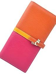 Women Cowhide  Multi-color Wallet