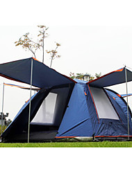 SHAMOCAMEL Ultraviolet Resistant / Rain-Proof / Anti-Insect Polyester One Room Tent Dark Blue / Orange