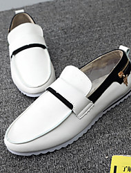 Men's Shoes Casual Microfibre Loafers Black / Yellow / White
