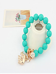 Cute / Casual Alloy Beaded / Stretch Bracelet
