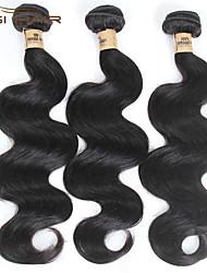 3 pacotes de onda do corpo 7a cabelo humano Remy Mechas virgem brasileira onda do corpo tecer qualidade superior não transformados tece
