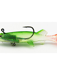 4pcs Lead Soft Baits 100mm 20g Fishing Lure Random Colors