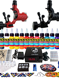 Kit de tatouage complet 2 Machine à tatouage x alliage pour la doublure et l'ombrage 2 Machines de tatouage LCD alimentationEncres