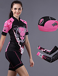 CHEJI Short Sleeve Cycling Jersey Suit Pirate Scarf & Sleeves