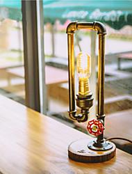 110-220V Vintage Edison Bulb Table Lamp Light  Water Pipe Desk Lamp Indoor Lighting E27 Bulb-FJ-DT2S-036A0