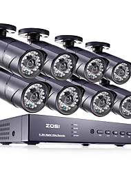 ZOSI® 8CH HDMI 960H DVR 8 pcs 1000TVL IR Home Surveillance Security Cameras CCTV System