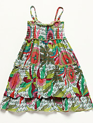 Robe Fille de Eté Coton Multicolore