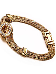 Bracelet 18 k étages bracelet dame incrusté de diamants