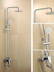 YOODOO®Shower Faucet Contemporary Brass Chrome Shower Set with Shower Head and Hand Shower