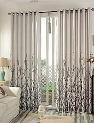 Dois Painéis Tratamento janela Moderno Quarto Linho/Mistura de Algodão Material Cortinas cortinas Decoração para casa For Janela