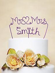Decorações de Bolo Personalizado Casal Clássico Aço Inoxidável Casamento / Aniversário / Despedida de SolteiraVermelho / Rosa / Lilás /