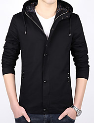 Men's spring young Hooded Jacket thin code slim coat Student Korean leisure short men tide