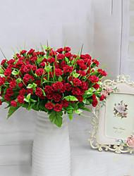 7 têtes de haute qualité des fleurs de lilas fleur de soie fleurs de soie fleurs artificielles pour la décoration maison 1pc / set