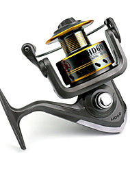 7 BB Spinning Reels Gear Ratio 4.7:1 Metal Spinning Fishing Reel HD60 Random Colors