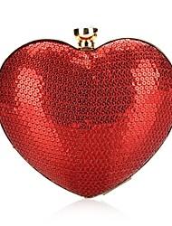 L.WEST® Women's Sequins Heart-shaped Party/Evening Bag