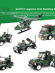 6piece/lot Logistics Building Blocks Factory Minifigures Original Educational Model Troops Kids Toys