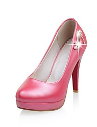 Women's Shoes Leatherette Stiletto Heel Heels Heels Office & Career / Party & Evening / Casual Pink / Red / White