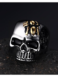 Spider Skeleton Rock Titanium Steel Ring