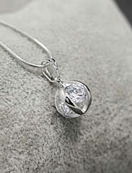 Silver Platinum(Pt)Plated Titanium Steel Ball Shape Pendant(Without Chain)