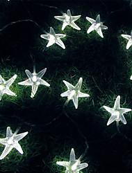 rei ro 50led bateria estrela do mar luz ao ar livre impermeável string (kl0025-rgb, branco, branco quente)