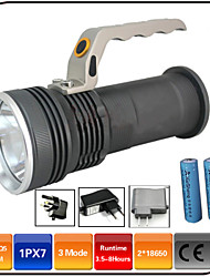 LED Flashlights/3 Mode 1000 Lumens Waterproof / Rechargeable /Emergency Hand Lamp / 18650 Battery