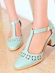 Women's Shoes Heel Heels Sandals / Heels Outdoor / Dress / Casual Blue / Pink / White/A9-1