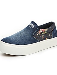 Women's Shoes Denim Creepers / Comfort Flats / Loafers / Slip-on Outdoor / Casual Black / Light Blue / Dark Blue