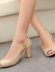 Women's Shoes Heel Heels / Peep Toe Sandals / Heels Outdoor / Dress / Casual Blue / Red / Gold/2-8