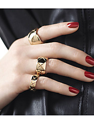 Ring Party / Daily / Casual Jewelry Alloy Women Band Rings 3pcs,One Size Gold / Silver