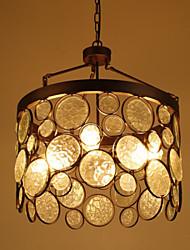 Vintage Iron Glass Chandelier