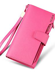 Women Cowhide Bi-fold Clutch / Evening Bag / Card & ID Holder / Wristlet / Mobile Phone Bag / Business Card Holder