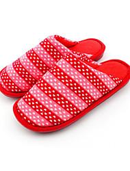 Zapatos de mujer-Tacón Plano-Zapatillas-Pantuflas-Casual-Vellón-Rosa / Rojo