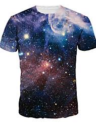 Inspiriert von Cosplay Cosplay Anime Cosplay Kostüme Cosplay-T-Shirt Druck Blau Kurze Ärmel T-Shirt-Ärmel