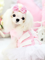 Dog Dress Green / Pink Spring/Fall Fashion