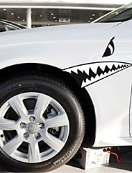 Funny SHARK TEETH Car Sticker Car Window Wall Decal Car Styling (1pcs)