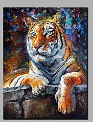 современной абстрактной чистой ручной росписью маслом готовы повесить убранства тигра
