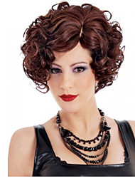Fashion Women Lady Short Fuxia Color Curly Beautiful Wigs