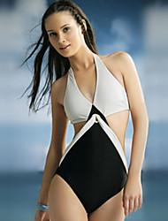 Damen Einteiler / Strandkleidung  -  Einheitliche Farbe Drahtlos Bambuscarbon-Faser Halfter