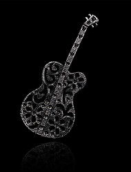 Fashion Literature Guitar Brooch